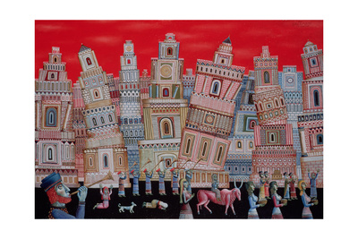 The Fall of Jericho, 1996 Giclee Print by Tamas Galambos