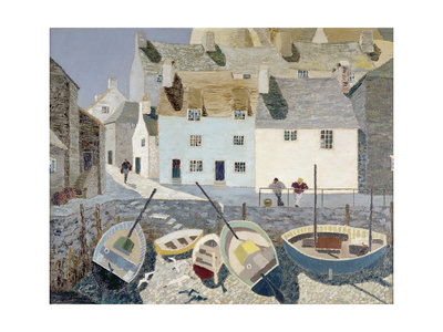 Polperro Giclée-tryk af Eric Hains