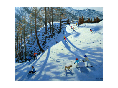 Large Snowball, Zermatt Giclee Print by Andrew Macara