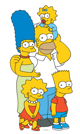Simpsons Family Lifesize Standup Cardboard Cutouts