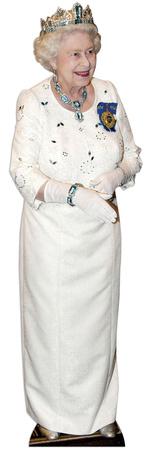 Queen Elizabeth wearing crown Lifesize Standup Figura de cartón