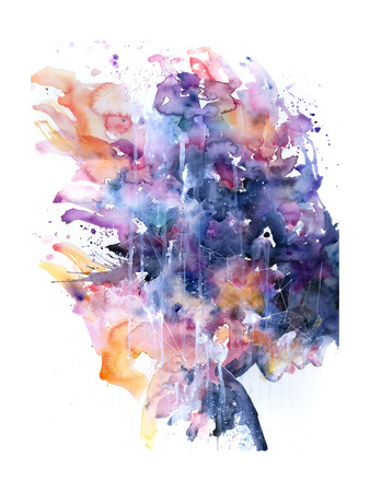 In A Single Moment All Her Greatness Collapsed Posters av Agnes Cecile