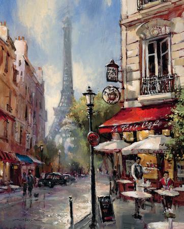 Tour De Eiffel View Plakater af Brent Heighton