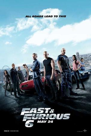 Fast & Furious 6 Movie Poster Masterprint