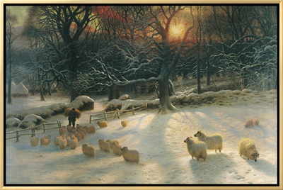 The Shortening Winter's Day Framed Canvas Print by Joseph Farquharson