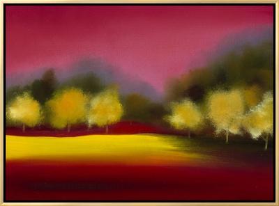 Raspberry Contemplation Framed Canvas Print by Bonita Williams Goldberg