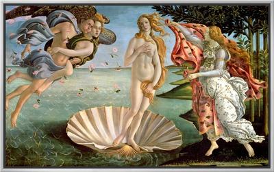 The Birth of Venus, c.1485 Framed Canvas Print by Sandro Botticelli