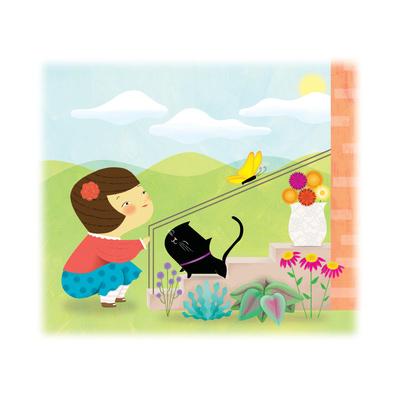 Kitten and Me - Humpty Dumpty Giclee Print by Sheree Boyd