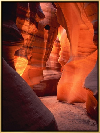 Antelope Canyon in Arizona - USA Framed Canvas Print by Roland Gerth