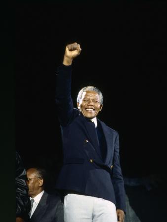 Nelson Mandela, London 1990 Photographic Print