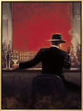Cigar Bar Framed Canvas Print by Brent Lynch