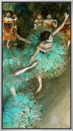 Green Dancer, circa 1880 Framed Canvas Print by Edgar Degas