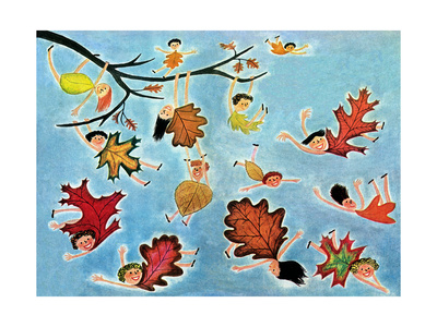 Leaf Kids - Jack & Jill Giclee Print by Stella May DaCosta