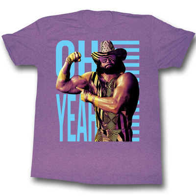 Macho Man Randy Savage purple shirt Oh Yeah quote wrestling t-shirt