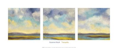 Tranquility (triptych) Art by Suzanne Nicoll