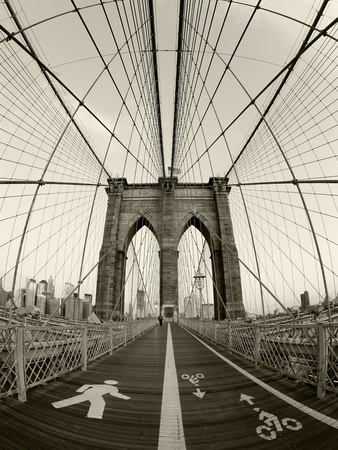 New York City, Manhattan, Brooklyn Bridge at Dawn, USA Metal Print by Gavin Hellier