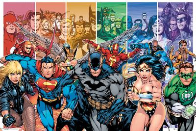 DC Comics Justice League Characters Prints