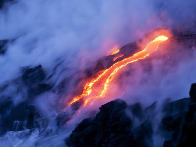 Volcano, Big Island of Hawaii Lámina en metal