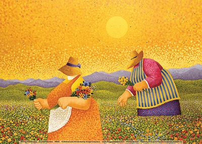 Picking Wildflowers Posters by Lowell Herrero