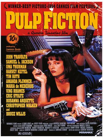 Pulp Fiction - Uma On Bed Movie Poster Masterprint