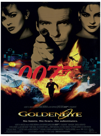 GoldenEye Pierce Brosnan James bond contemporary movie film poster