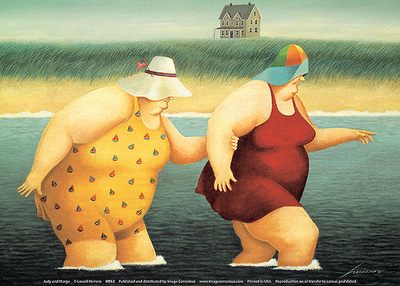 Judy and Marge Posters af Lowell Herrero