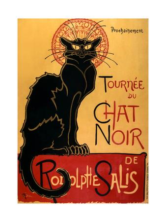 Tournee der schwarzen Katze, ca. 1896 Kunstdruck von Théophile Alexandre Steinlen