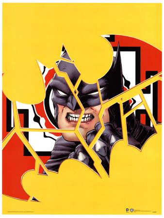 DC Comics (Batman Cracked) Comic Book Poster Masterprint