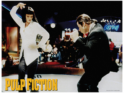 Pulp Fiction Dance Movie Poster Masterprint