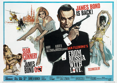 From russia with love james bond sean connery vintage movie film poster