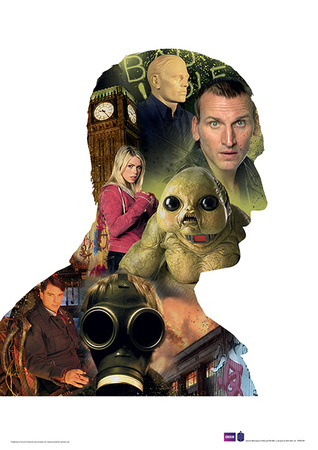 Doctor Who - Eccleston Television Poster Masterprint