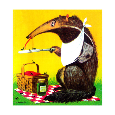 Anteater Picnic - Jack & Jill Giclee Print by George Lesnak