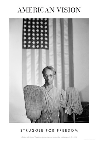 American Gothic, 1942 (Struggle for Freedom) Print by Gordon Parks