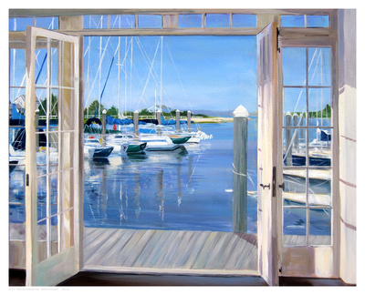 Reflections, Marina Mill Creek Prints by Carol Saxe