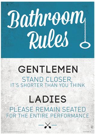 Badezimmer Poster   Design