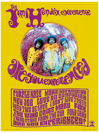 Jimi Hendrix (Are You Experienced) Music Poster Masterprint