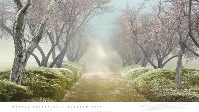 Blossom Path Posters by Donald Satterlee