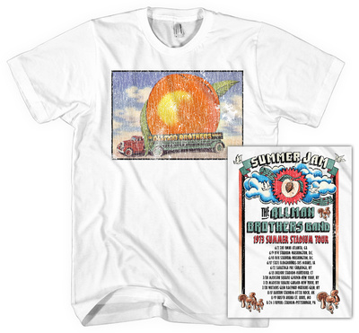 Allman Brothers Band - Distressed Eat A Peach Tシャツ