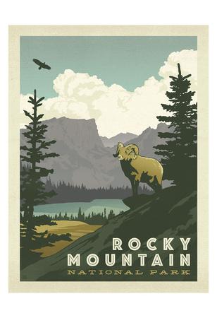 Rocky Mountain nationalpark Planscher av  Anderson Design Group