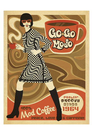 Gogo Mojo Prints by  Anderson Design Group