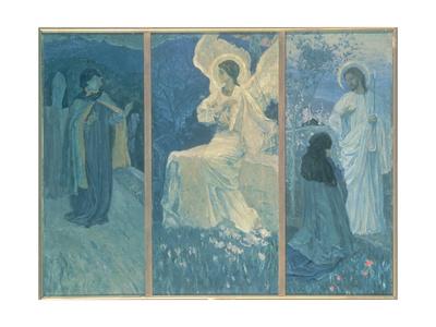 The Resurrection Triptych, 1922 Giclee Print by Mikhail Vasilievich Nesterov