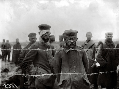 Prisoners of War, World War One, 1917 Photographic Print by Jacques Moreau