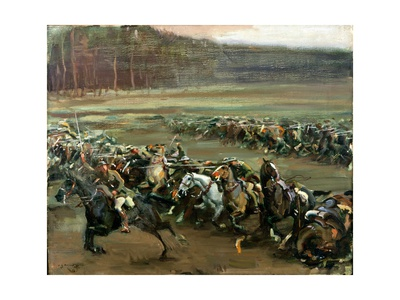 Charge of Flowerdew's Squadron, c.1918 Giclee Print by Sir Alfred Munnings