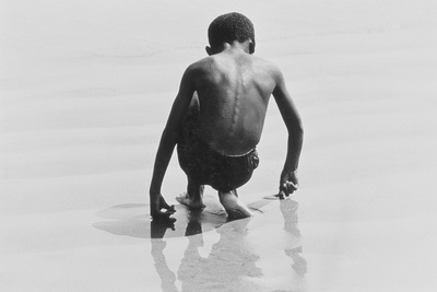 Boy Playing in the Sand at Coney Island, Untitled 30, c.1953-64 Photographic Print by Nat Herz