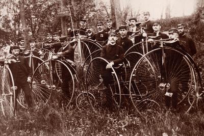 Meeting of Cyclists, c.1900 Lámina fotográfica por  American Photographer
