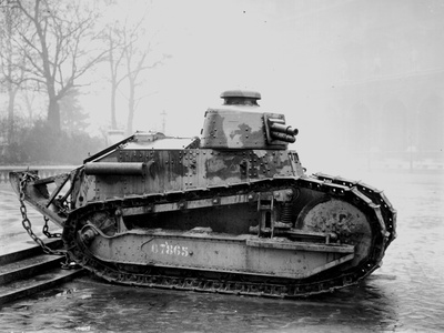 Renault Tank with 57mm Cannon, c.1918 Photographic Print by Jacques Moreau