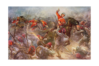 The Charge of the Drury Lowes Cavalry at Kassassin, August 28th, 1882, Illustration from 'British… Giclee Print by Christopher Clark