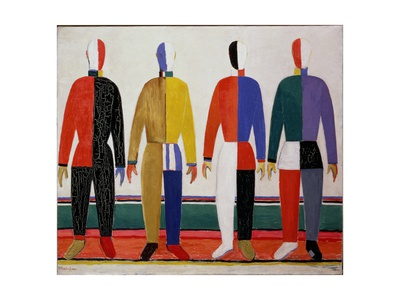 Sportsmen, or Suprematism in Sportsmen's Contours, 1928-32 Giclee Print by Kasimir Malevich