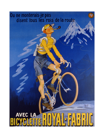 Poster Advertising Cycles 'Royal-Fabric', 1910 Giclee Print by Michel, called Mich Liebeaux