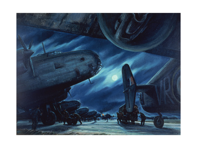 Marshalling of the Hallies, 1947 Giclee Print by Paul Goranson